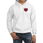 Masonic Square and Compasses Chevron Hooded Sweats