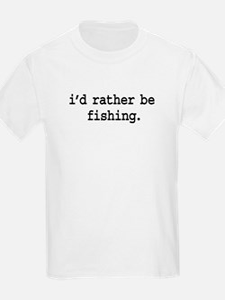 idratherbefishingblk.png T-Shirt