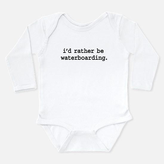 idratherbewaterboardingblk.png Long Sleeve Infant
