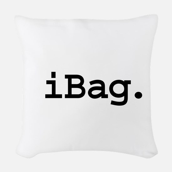 iBagblk.png Woven Throw Pillow
