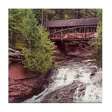 Amnicon Falls, WI Tile Coaster