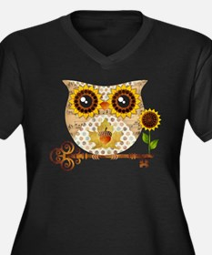 Owls Autumn Song Plus Size T-Shirt