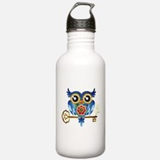 Owl on Skeleton Key Water Bottle