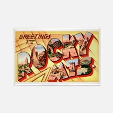 Rocky Mountains Greetings Rectangle Magnet