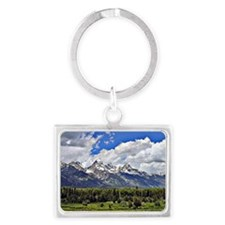 Grand Teton, Wyoming Landscape Keychain