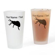 Custom Black Beetle Silhouette Drinking Glass