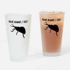 Custom Black Beetle Silhouette Drinking Glass