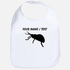 Custom Black Beetle Silhouette Bib