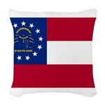 Georgia.png Woven Throw Pillow