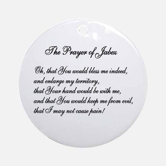 The Prayer of Jabez Ornament (Round)