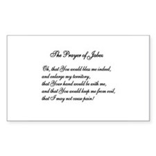 The Prayer of Jabez Rectangle Decal