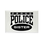 Proud Police Sister Rectangle Magnet