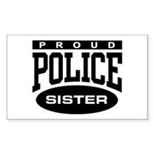 Proud Police Sister Rectangle Decal