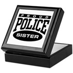 Proud Police Sister Keepsake Box