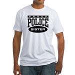 Proud Police Sister Fitted T-Shirt