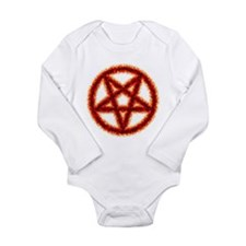 pentagram2.png Long Sleeve Infant Bodysuit