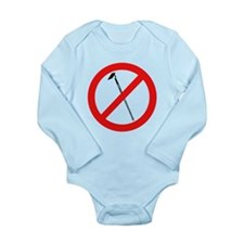 nomorehoesblk.png Long Sleeve Infant Bodysuit