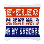 reelectclientno9gov4.png Woven Throw Pillow
