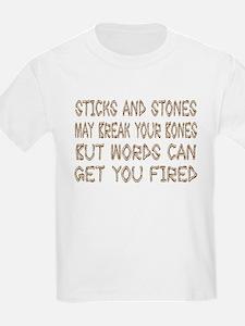 3-sticksandstones.png T-Shirt