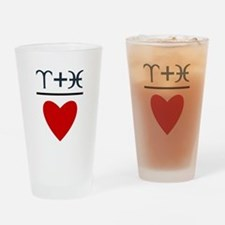Aries + Pisces = Love Drinking Glass