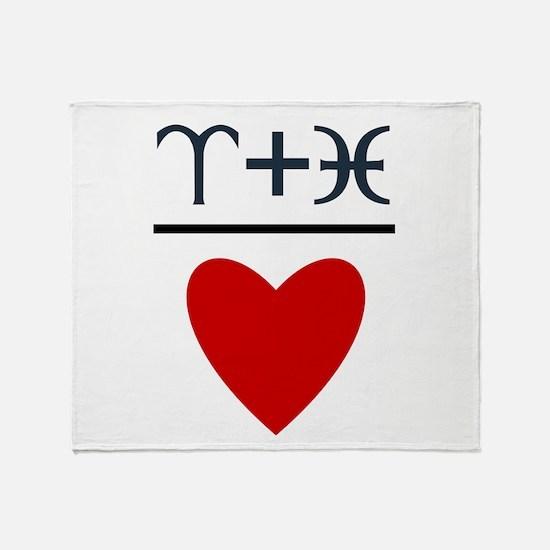 Aries + Pisces = Love Throw Blanket