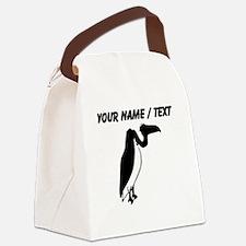 Custom Black Vulture Silhouette Canvas Lunch Bag