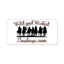 Wild and Wicked Aluminum License Plate