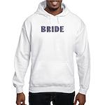 Block Floral Bride Hooded Sweatshirt