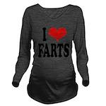 ilovefartsblk.png Long Sleeve Maternity T-Shirt