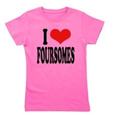 ilovefoursomesblk.png Girl's Tee