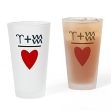 Aries + Aquarius = Love Drinking Glass
