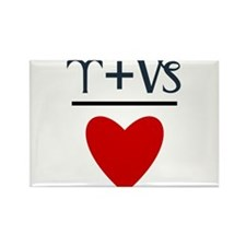 Aries + Capricorn = Love Rectangle Magnet (100 pac