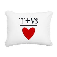 Aries + Capricorn = Love Rectangular Canvas Pillow