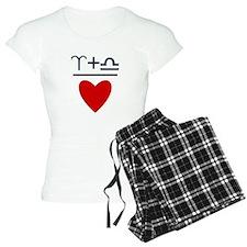 Aries + Libra = Love Pajamas