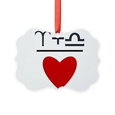 Aries + Libra = Love Ornament