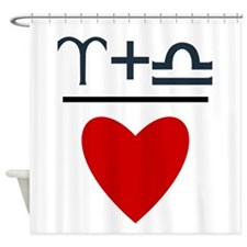 Aries + Libra = Love Shower Curtain