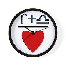 Aries + Libra = Love Wall Clock