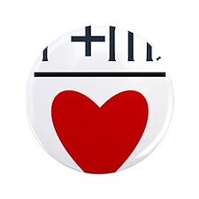 """Aries + Virgo = Love 3.5"""" Button (100 pack)"""
