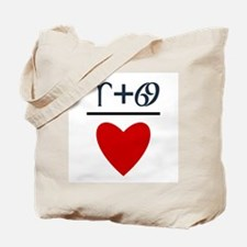 Aries + Cancer = Love Tote Bag