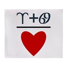 Aries + Cancer = Love Throw Blanket