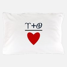 Aries + Cancer = Love Pillow Case