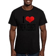 ilovenewjerseyblk.png Men's Fitted T-Shirt (dark)