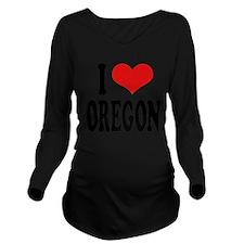 iloveoregonblk.png Long Sleeve Maternity T-Shirt