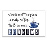 Bible Says Hebrews Rectangle Sticker