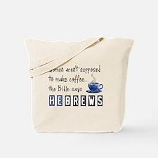 Bible Says Hebrews Tote Bag