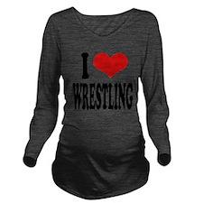 ilovewrestlingblk.png Long Sleeve Maternity T-Shir