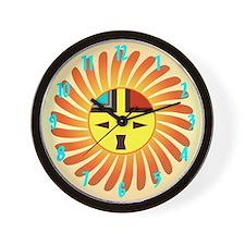 Sunface - Tawa Kachina Wall Clock