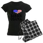ilovebarackobamablk.png Women's Dark Pajamas