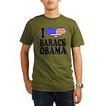 ilovebarackobamablk.png Organic Men's T-Shirt (dar