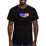 ilovehillaryclintonblk.png Men's Fitted T-Shirt (d